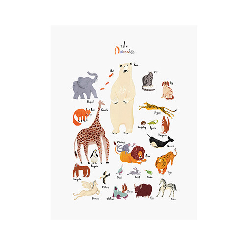 ABC animals 30x40cm