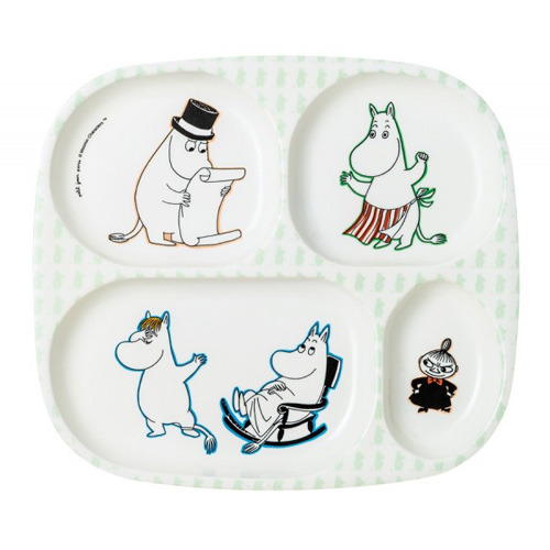 4 Compartments Serving Tray Moonmin