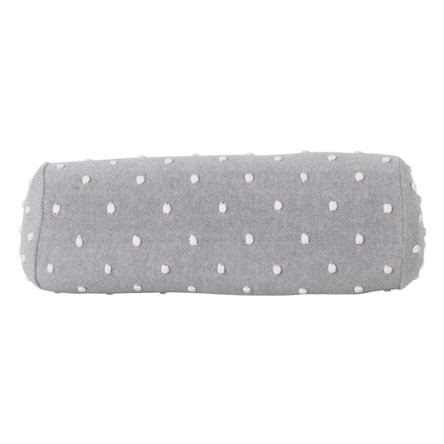 Popcorn Bolster Cushion Grey