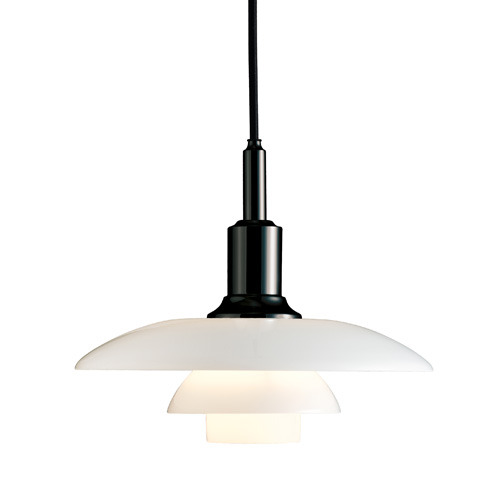 PH 3/2 Glass Black Painted Pendant