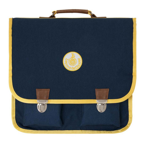Cartable Vintage Grand Marine Band Jaune