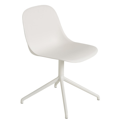 Fiber Side Chair Swivel Base White
