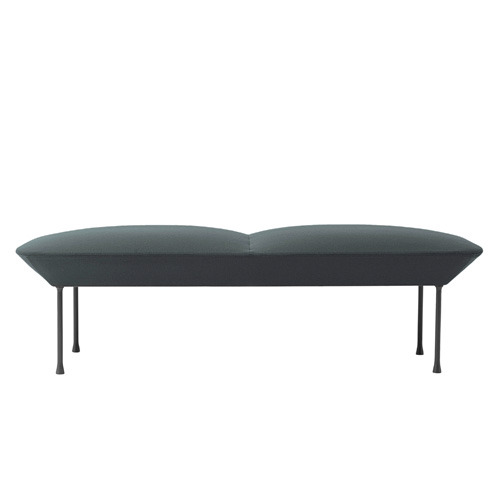 Oslo Bench Steelcut 180/Dark Grey Legs