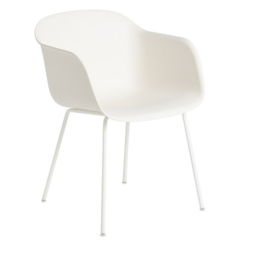 Fiber Armchair Tube Base White