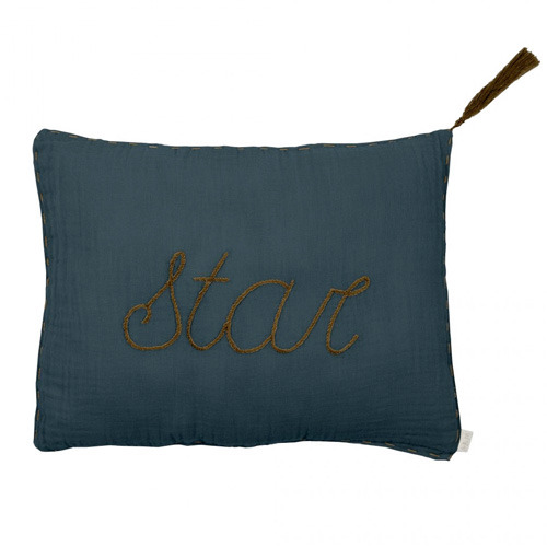 Cushion Message Star Ice Blue