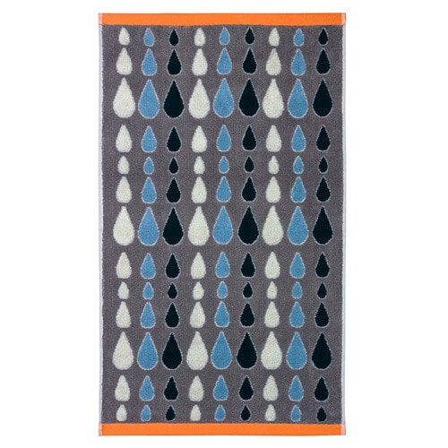 Rain Drops Bath Towel Grey