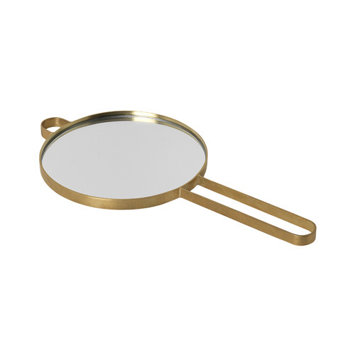 Poise Hand Mirror Brass
