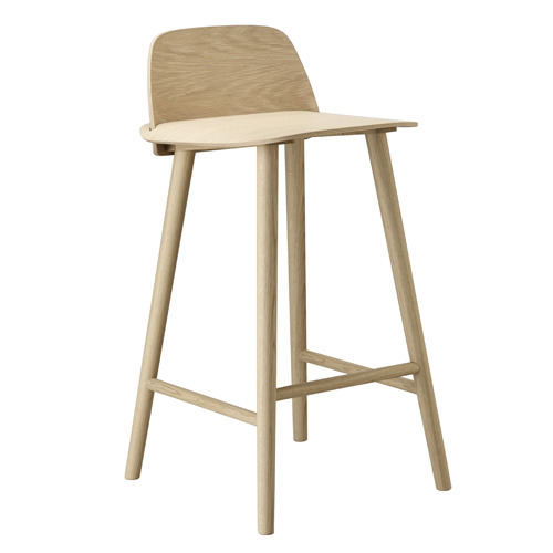 Nerd Bar Stool H65cm Oak