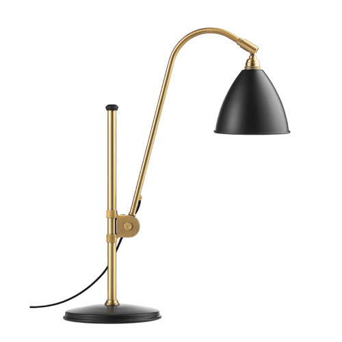 Bestlite BL1 Table Lamp Brass base/Charcoal Black
