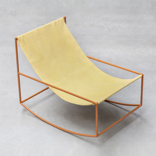 Rocking Chair Mustard Frame/Yellow