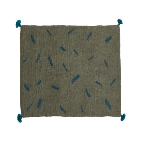 Tikka Rug Mineral grey/Duck blue