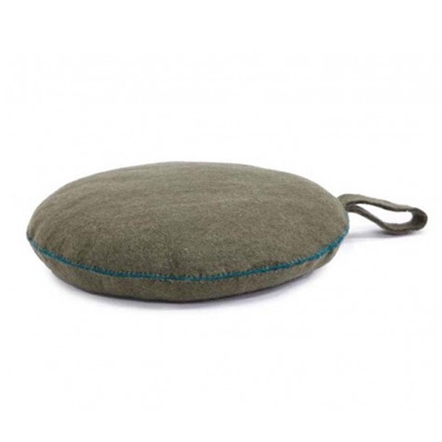 Nomade Round Cushion Mineral Grey