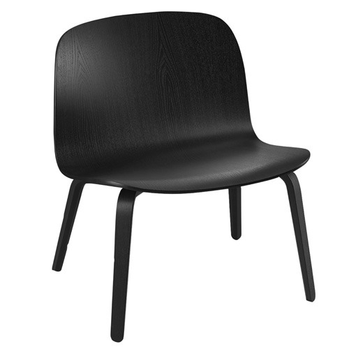 Visu Lounge Chair Wooden Seat Black
