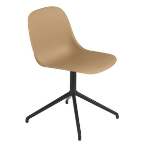 Fiber Side Chair Swivel Base Ochre/Black