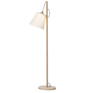 Pull Floor Lamp Oak/White