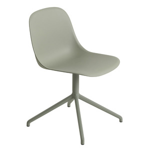 Fiber Side Chair Swivel Base Dusty Green