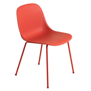 Fiber Side Chair Tube Base Dusty Red
