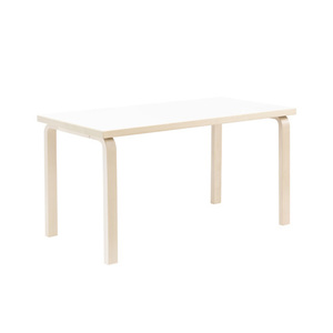 Aalto Table 80B H60 White/Birch [주문후 5개월 소요]