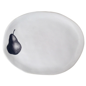Souvenir Very Big Oval Plate Pear