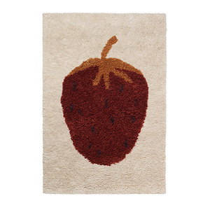 Fruiticana Tufted Strawberry Rug Small