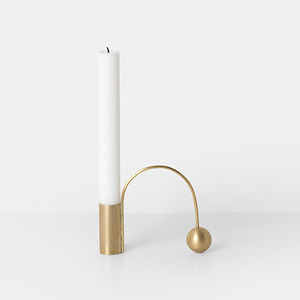 Balance Candle Holder Brass