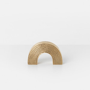 Card Stand Arch Brass