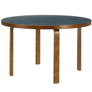 Aalto Table 91 Smokey Blue/Walnut Stained Birch [주문후 5개월 소요]