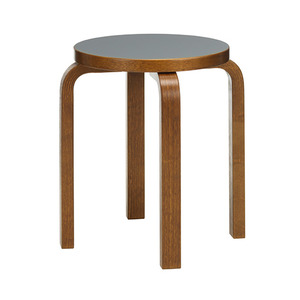 Stool E60 Pewter/Walnut Stained Birch  주문후 5개월 소요