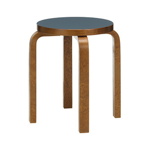 Stool E60 Smokey Blue/Walnut Stained Birch [주문후 5개월 소요]