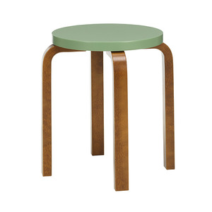 Stool E60 Pale Green/Walnut Stained Birch [주문후 5개월 소요] (5% Discount 5.21-6.8)
