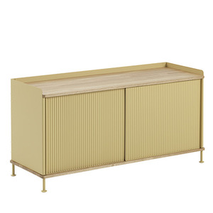 Enfold Sideboard Low Oak/Sand Yellow