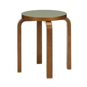 Stool E60 Olive/Walnut Stained Birch [주문후 5개월 소요]