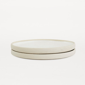 Otto Plate White L Set of 2