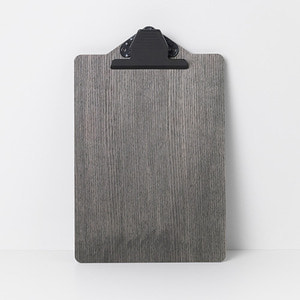 Clipboard A4 Stained Black [주문 후 3개월 소요]