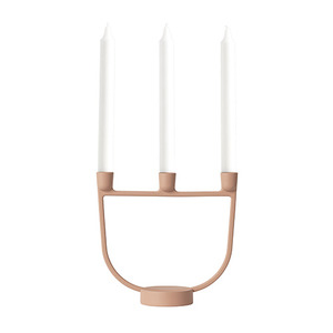 Open Candelabra Light Terracotta