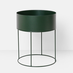 Plant Box Round Dark Green  재고문의