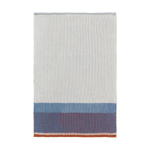 Akin Knitted Kitchen Towel Dull Blue