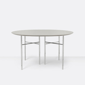 Mingle Table Round 130cm Light Grey