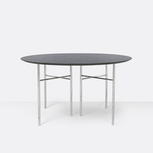 Mingle Table Round 130cm Black Veneer
