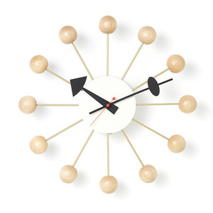 Ball Clock Natural Beech