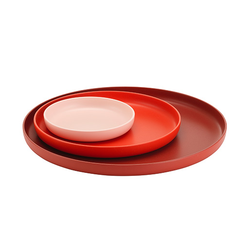 Trays Set of 3 Red