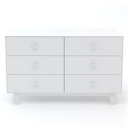 Merlin 6 Drawer Dresser White