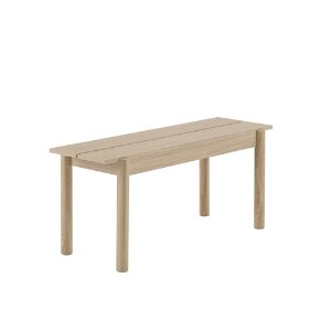 Linear Wood Bench 110cm