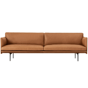 Outline Sofa 3-Seater  Refine Leather Cognac/Black Base  3월 초 입고 예정