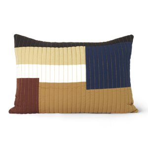 Shay Quilt Cushion Mustard 60x40cm