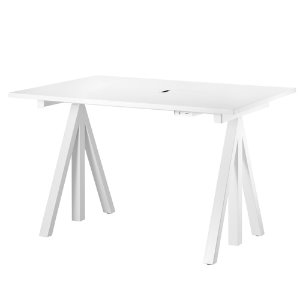 Works Height-adjustable Work Desk White Laminate