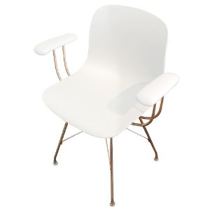 Troy Armchair Wireframe Copper/White