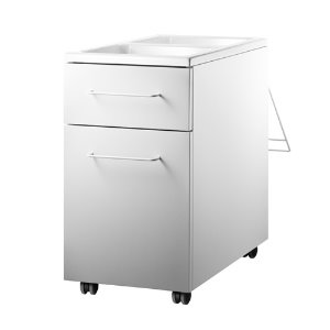 Works Mobile Storage Unit White
