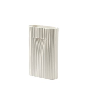 Ridge Vase H35cm Off-White  1월 말 입고