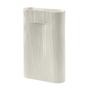 Ridge Vase H48.5cm Off-White  1월 말 입고